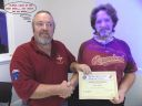 Keven presenting Bruce with ANDA 2015 participation certificate